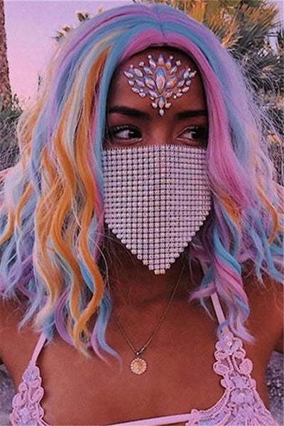 Shining Rhinestone Chain Face Mask