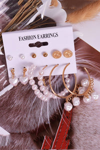 Pearl Alloy Earring Sets
