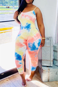 Color Changing Tie Dye Jumpsuit
