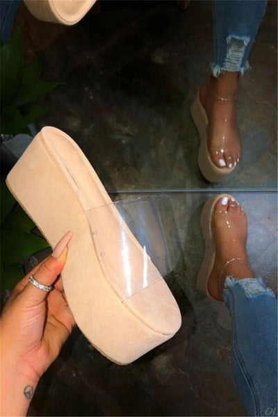 Open Toe Sponge Slippers