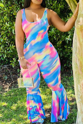 Color Changing Flare Cami Jumpsuit