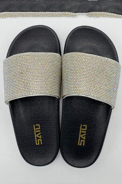 Rhinestone Color Changing Beach Slippers