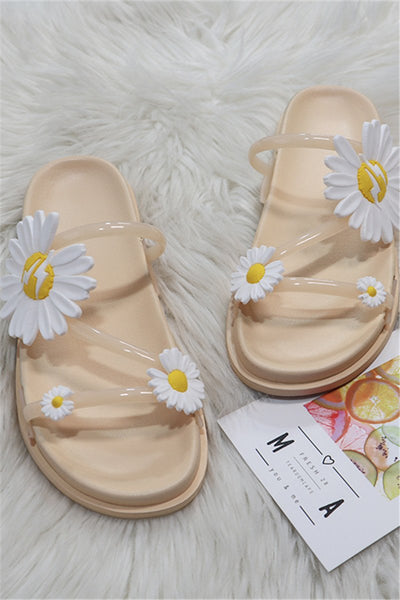 Small Daisies Beach Slippers
