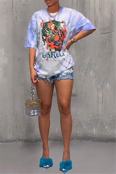 Casual Tie Dye Printed Top