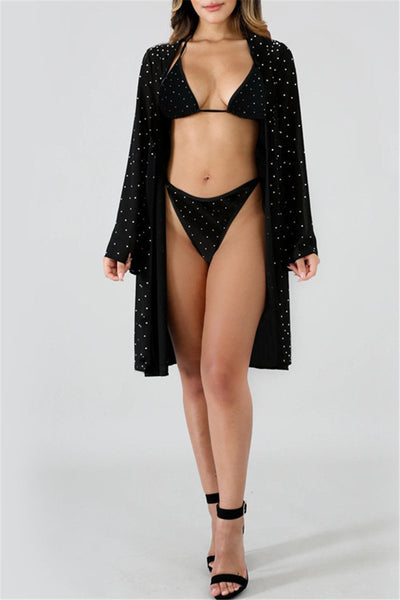 Shining Sequin Splicing Swimwear Sets