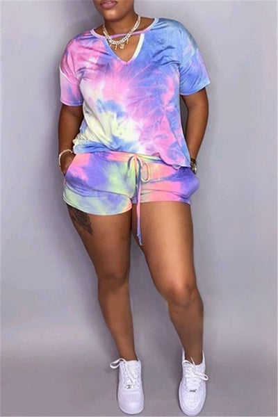 Tie Dye Hollow Out Two PC Sets