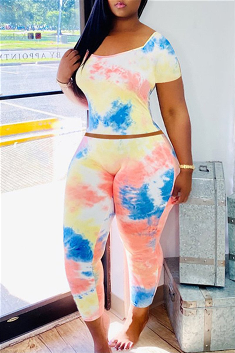 Tie Dye Bodycon Two PC Sets