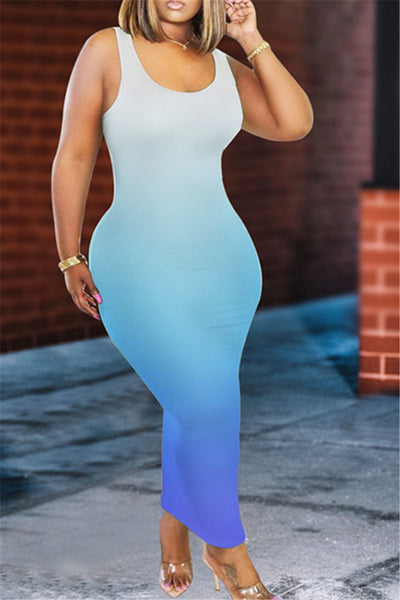 Color Changing Bodycon Maxi Dress