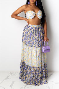 Printed Tube& Skirt Sets