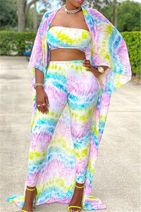 Printed Chiffon Three PC Sets