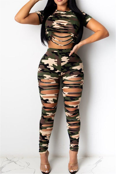 Camo Printed Distressed Sets