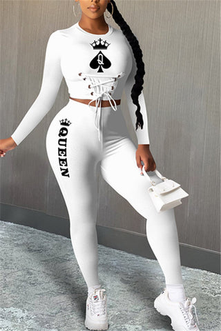 Poker Printed Bandage Bodycon Sets