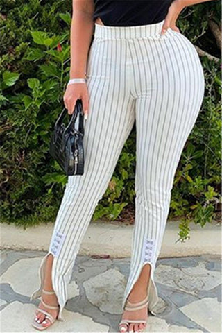 Stripe Printed Split Pants