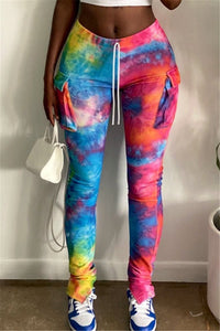 Tie Dye Pants With Pockets