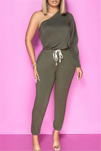 One Sleeve Bandage Jumpsuit