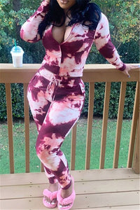 Tie Dye Zipper Two PC Sets