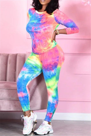 Tie Dye Printed Two PC Sets