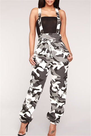 Casual Camo Printed Overall