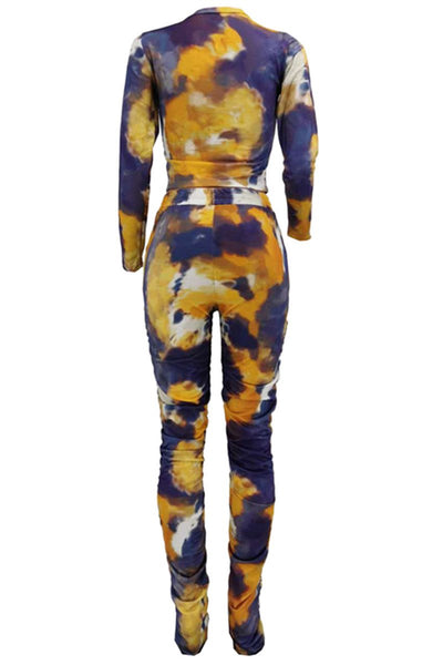 Tie Dye Ruched Two PC Sets