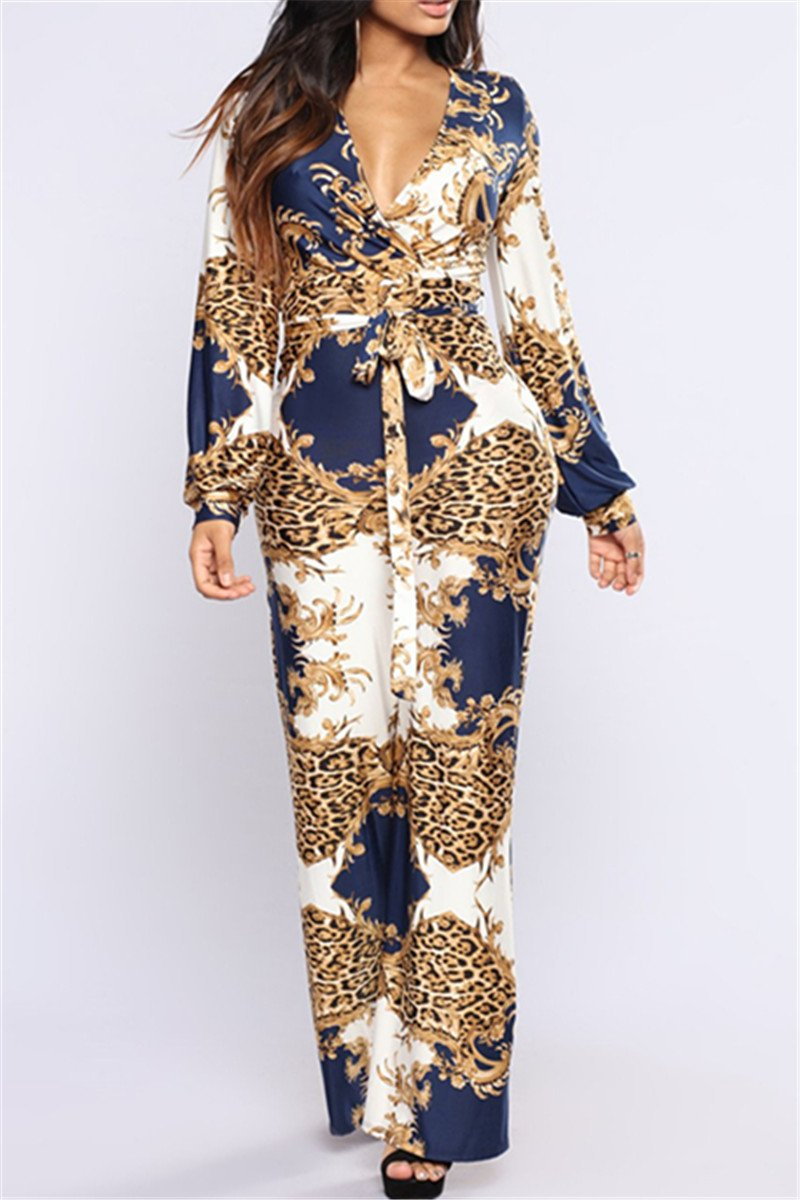Leopard Printed Womens Jumpsuit
