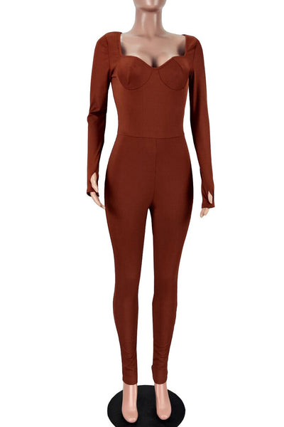 Solid Color Womens Jumpsuit