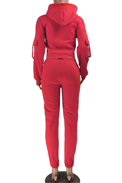 Solid Color Thick Hoodie& Pants Sets