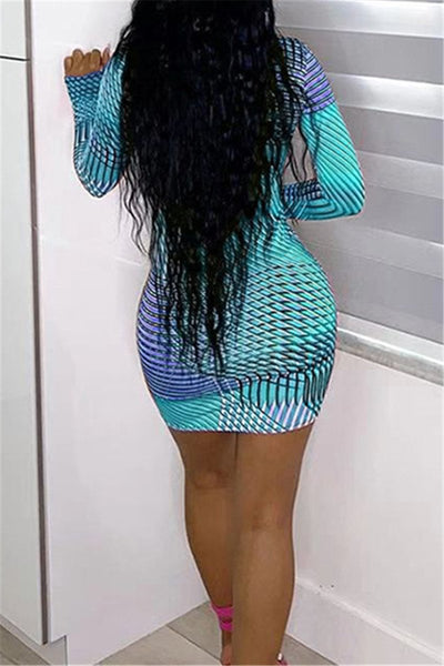 Printed Bodycon Womens Dress