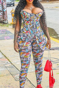 Printed Tube Womens Jumpsuit