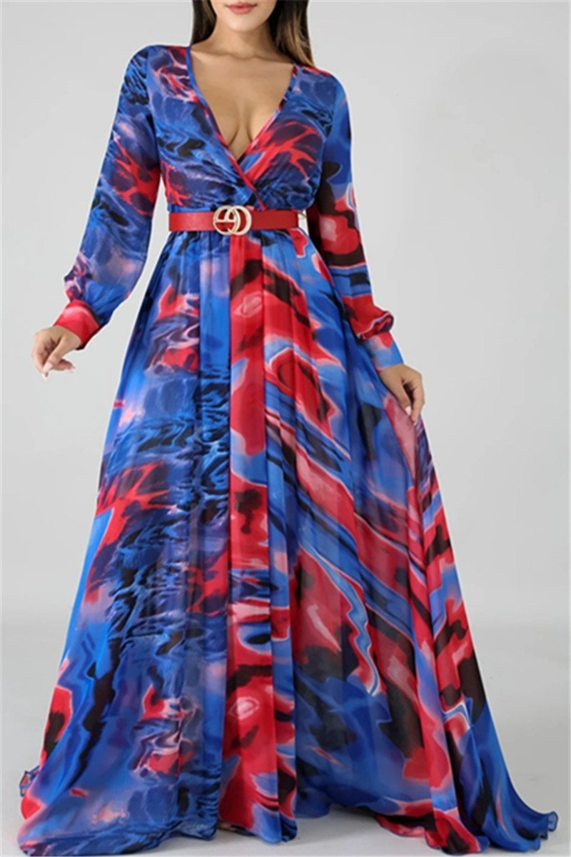 Casual Printed Womens Maxi Dress