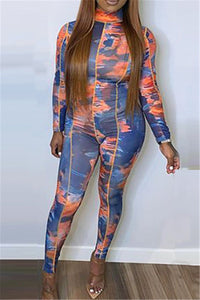 Tie Dye Printed Womens Jumpsuit