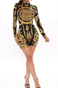 Printed Bodycon Womens Romper