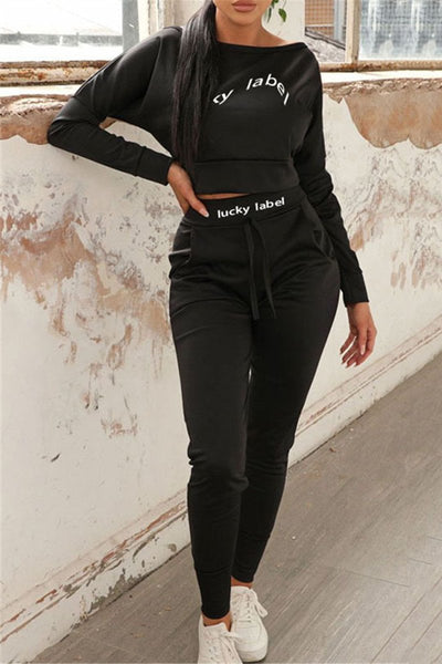Casual Letter Printed Womens Clothing