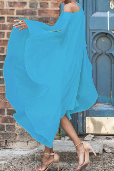 Chiffon Off Shoulder Dress - ezcute