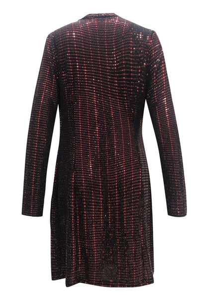 Sequin Splicing Blazer Dress - ezcute