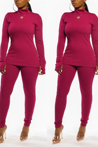 Solid Color High Collar Sets