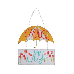 """Choose Joy"" Tin Wall Decor"