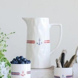 Stoneware Anchor Pitcher