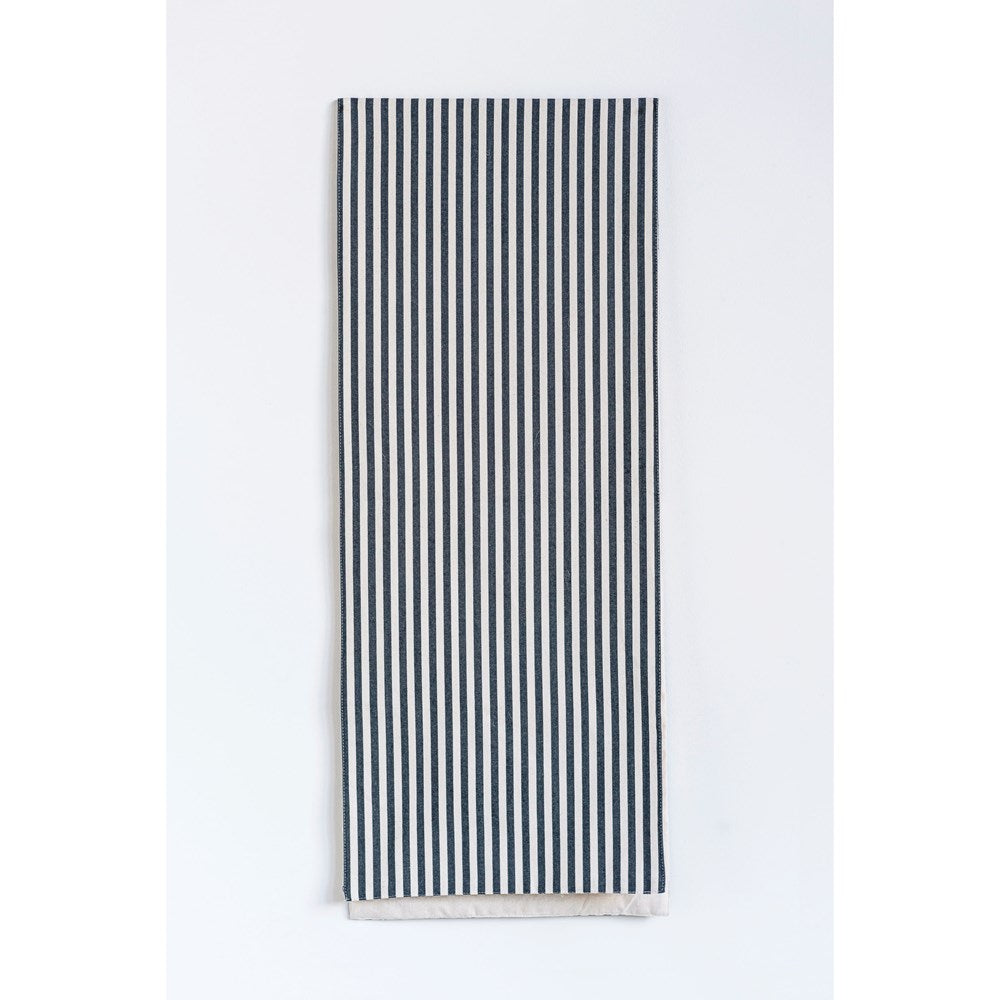 Cotton Striped Table Runner, Black