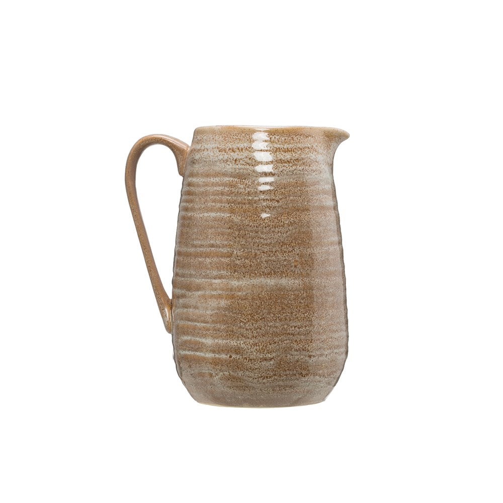 Stoneware Pitcher, putty color