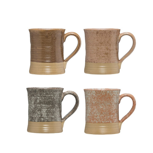 Stoneware Mugs- Set of 4 colors