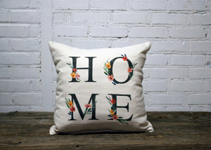 """HOME"" pillow"
