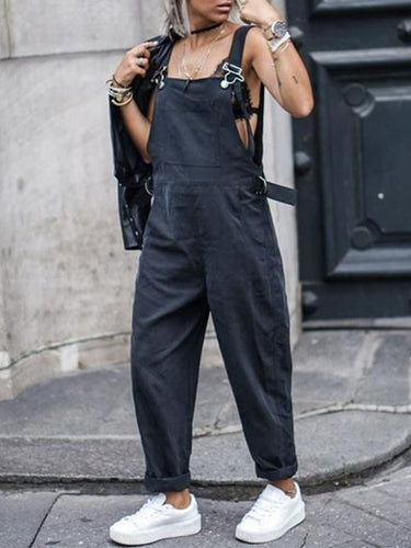 Spaghetti Strap  Plain  Sleeveless Fashion Jumpsuits