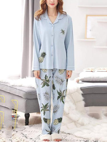 Pajama suit cardigan casual home service