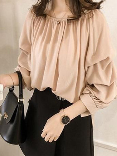 Fashion Sexy One Word Collar Off Shoulder Loose Chiffon Blouse