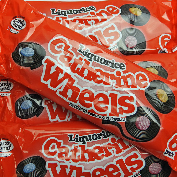 Liquorice Catherine Wheels : x6 wheels - Liquorice and Aniseed Flavour Sweets