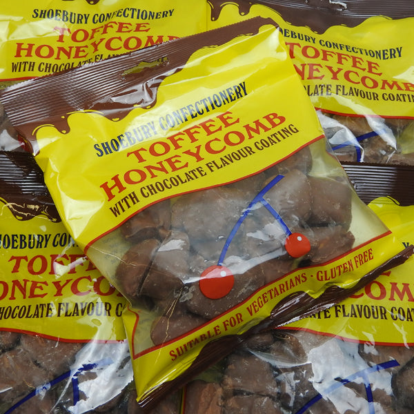 Chocolate Cinder Toffee : 150g - Toffee Honeycomb with a Chocolate Flavour Coating