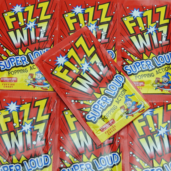 Fizz Wiz Strawberry Popping Candy : x7 - Popping Candy, Strawberry Flavour