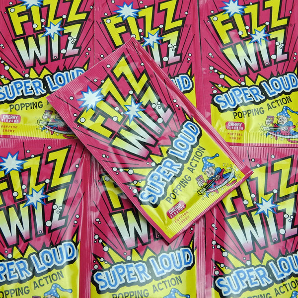 Fizz Wiz Cherry Popping Candy : x6 - Popping Candy, Cherry Flavour