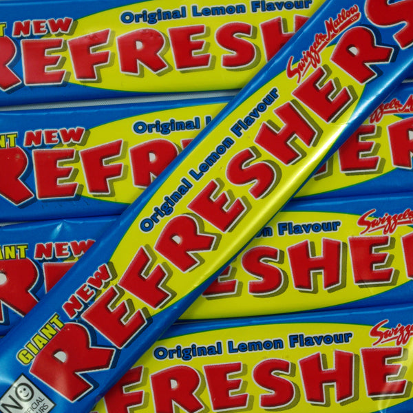 Refreshers Lemon Bars : x10  - Original Lemon Flavour Chew Bar with a Sherbet Centre