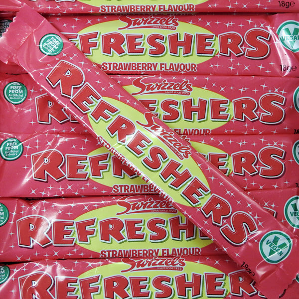Refreshers Strawberry Bars : x10 - Strawberry Chew Bar with a Sherbet Centre